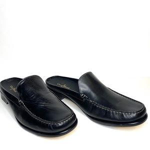 Cole Haan Black Leather Slip-on Clogs Mules Sz 10